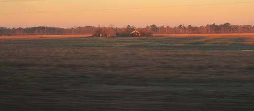 sunlight georgia dawn countryside farm fields