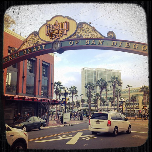 Gaslamp District neighborhood sign, San Diego
