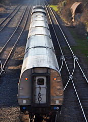 Amtrak train departing Raleigh