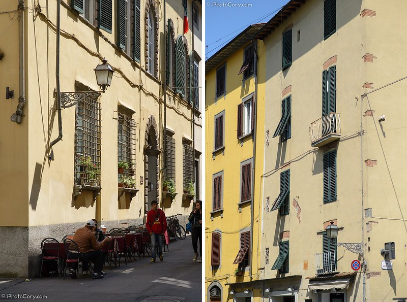buildings in Lucca, Italy