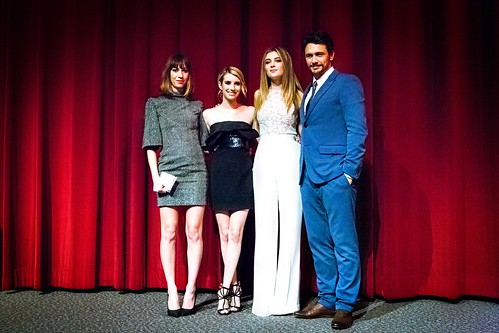 Gia Coppola, Emma Roberts, Zoe Levin, James Franco at Palo Alto LA Premiere, a Flux event