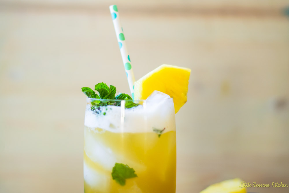 Pineapple Ginger Mojito via LittleFerraroKitchen.com
