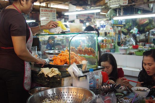 Bún mắm stall, Ben Thanh Market, Ho Chi Minh City (Saigon), Vietnam