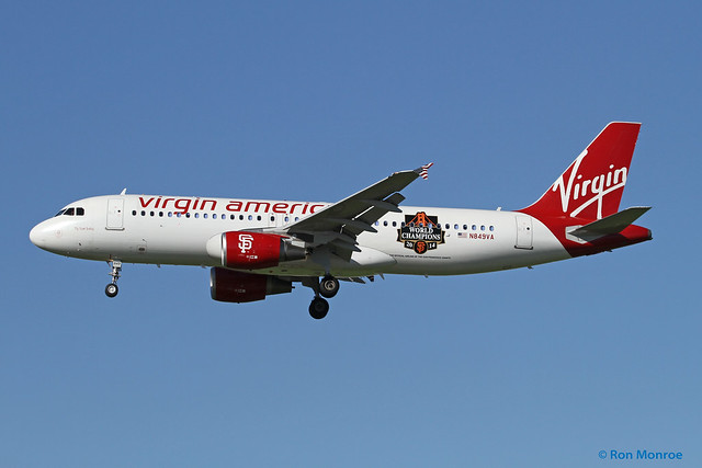 Special livery, Virgin America - San Francisco Giants, Airbus A320