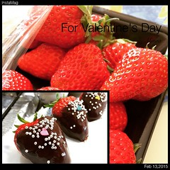 covered several of these beautiful strawberries with chocolate for hubs♡ #strawberry #chocolate #valentines  #japan