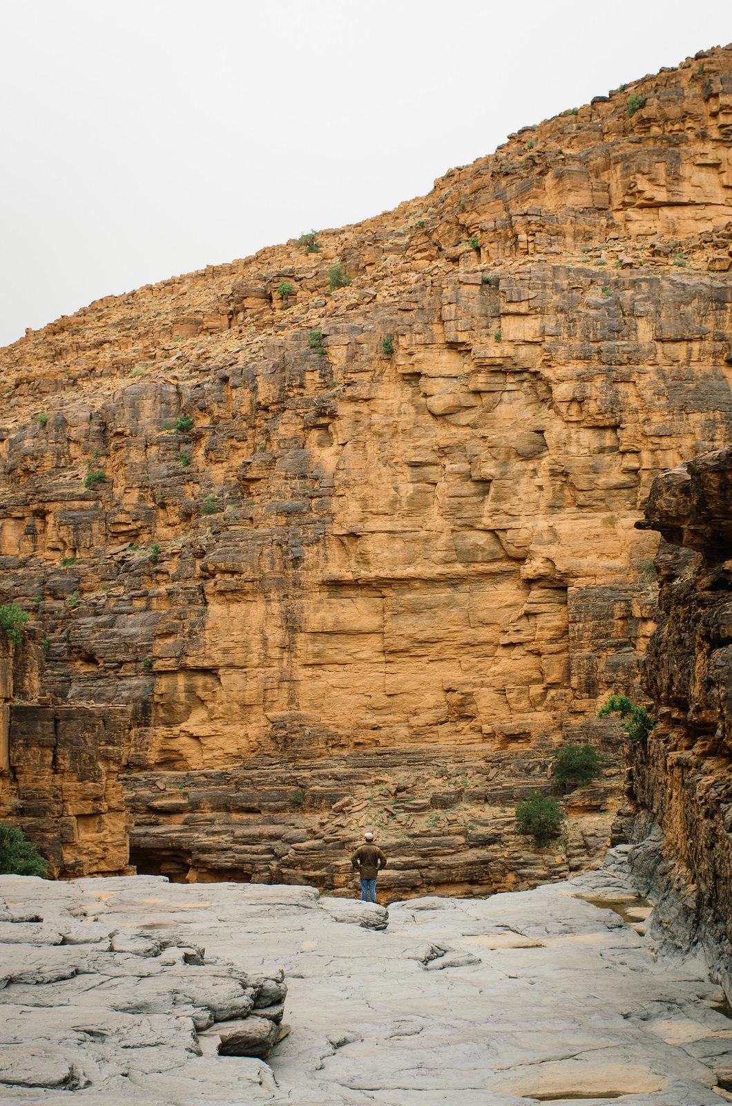 Trek sans guide au Maroc - 5 jours dans l'anti-Atlas - Surplomber la cascade
