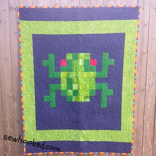 Frogger quilt for The Linus Connection