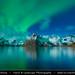 Norway - Lofoten - Moskenes - Hamnoy - Picturesque fishing village under Aurora borealis - Northern lights by © Lucie Debelkova / www.luciedebelkova.com