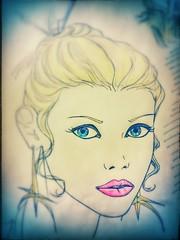 Lejen Meable Ashgurr - Eyeline and makeup study sketch - Dino Olivieri