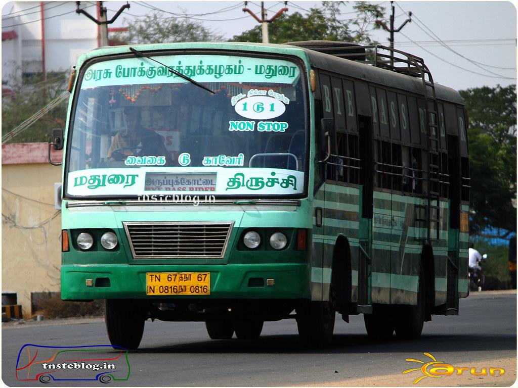 TN-67N-0816 of Aruppukottai Depot Route Aruppukottai - Trichy via Madurai.