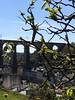 Le viaduc de Morlaix depuis les jardins de la Maison Penanault, Morlaix, Finistère, Bretagne