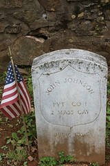 John Johnson, Union Soldier under Major William H. Forbes killed during skirmish on July 6, 1864, by Mosby's Rangers