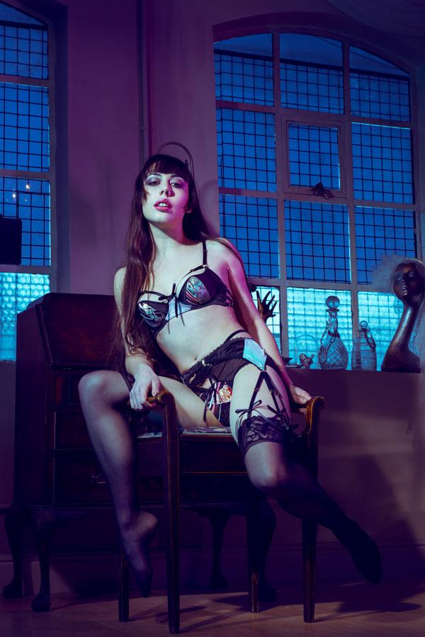 Gestalta modeling lingerie for Karolina Laskowska's girls that glitter collection