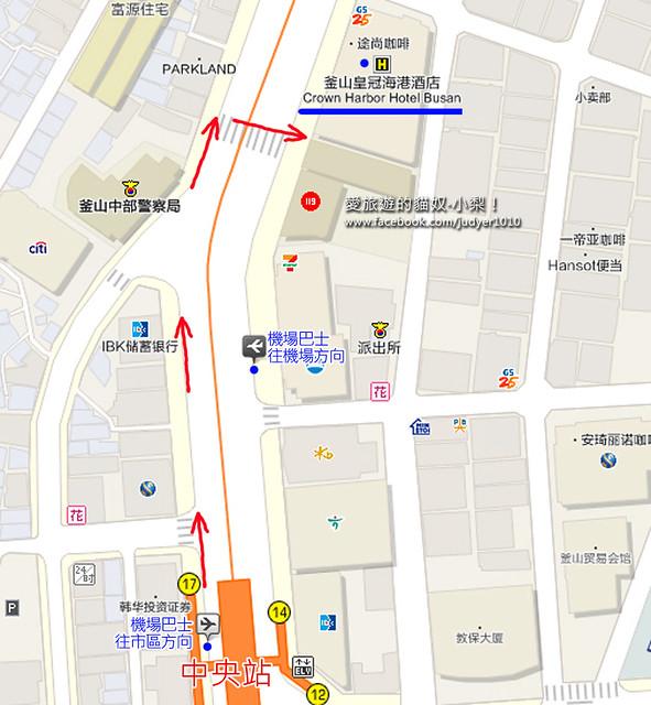 釜山皇冠海港飯店地圖