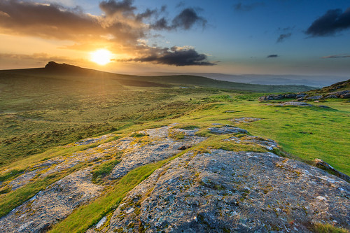 wild summer england sun field clouds sunrise canon landscape photography dawn rocks unitedkingdom hill july farmland devon tor moor dartmoor grazing saddle teignbridgedistrict 5dsr davidwogan