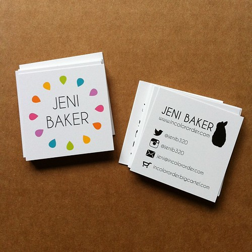 New business cards by Jeni Baker