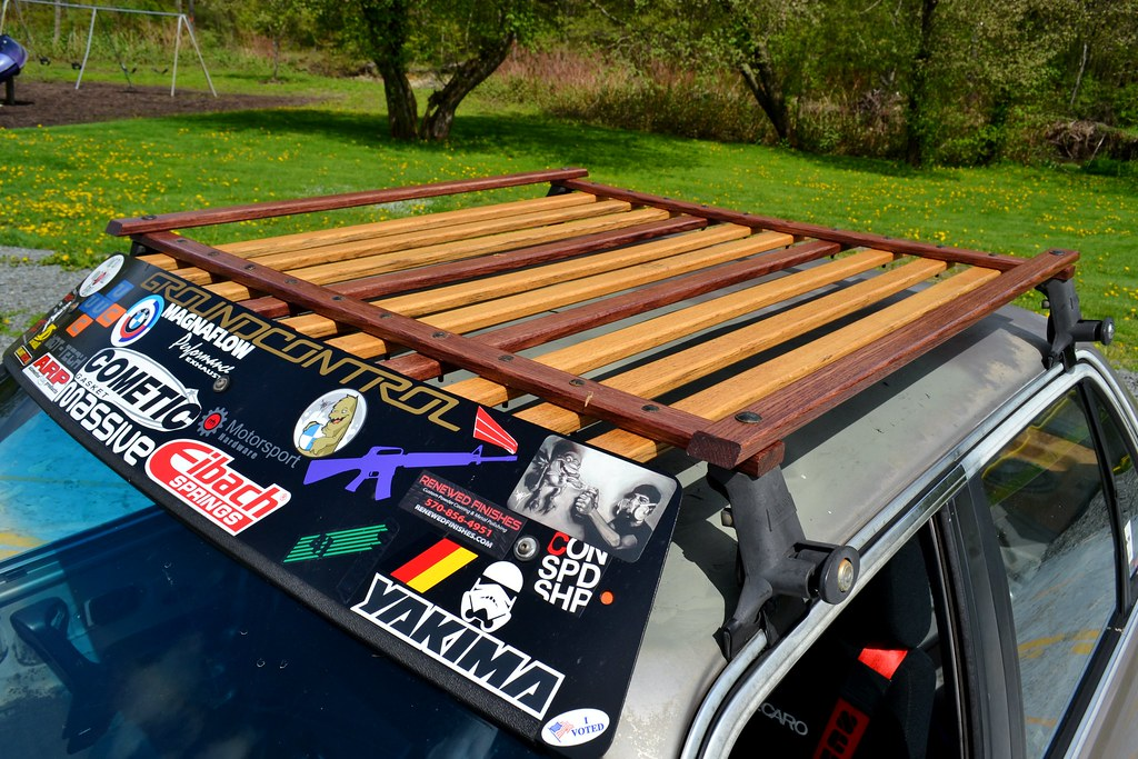 F34rs Wooden Roof Rackfinishedinstalled R3vlimited Forums