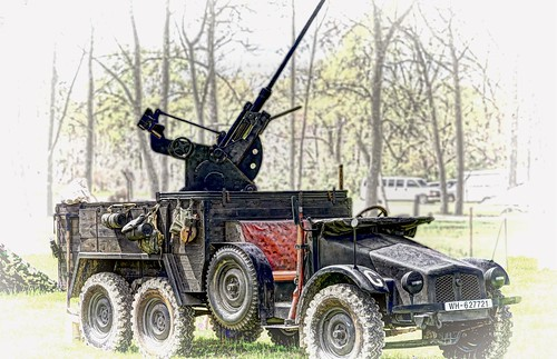 mobile anti aircraft gun