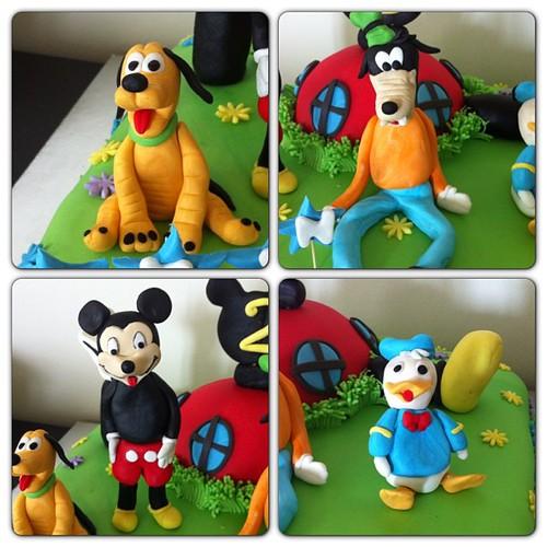 #mickeyclubhousecake #mickeycake #mickeyninklupevipasta #sugarart #sugarpaste #sekerhamurlupastalar by l'atelier de ronitte