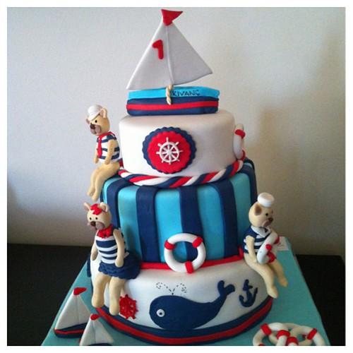 #marinthemecake#birthdaycake#sailboat#sekerhamurlupastalar #sugarpaste#sugarart by l'atelier de ronitte