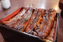 steak(0.0), spare ribs(0.0), ribs(0.0), kobe beef(0.0), brisket(0.0), meal(1.0), roasting(1.0), unadon(1.0), unagi(1.0), food(1.0), dish(1.0), cuisine(1.0),
