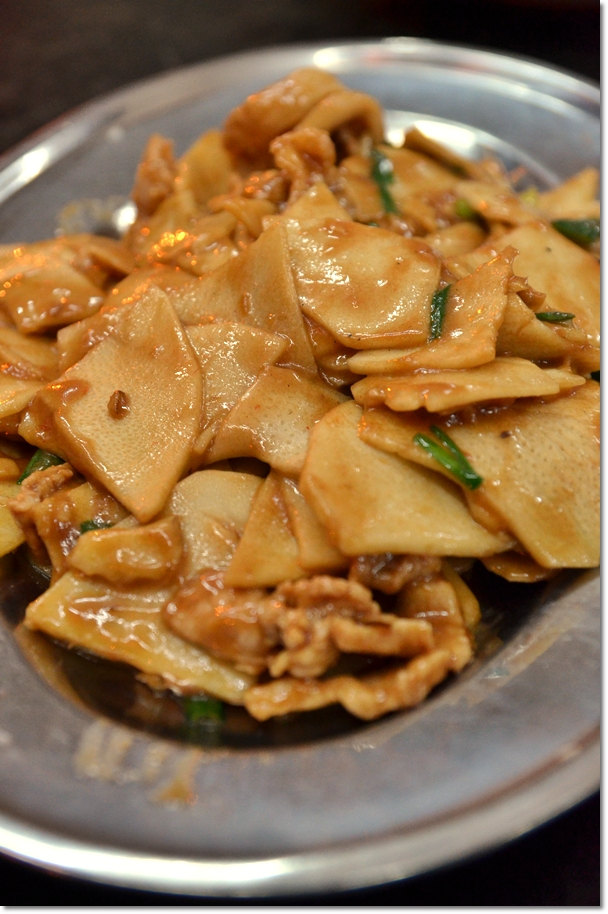 Sliced Bamboo Shoot with Pork in Fermented Bean Paste