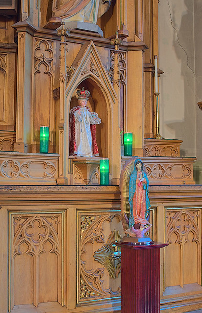 Sacred Heart Roman Catholic Church (Saint Katharine Drexel Parish), in Springfield, Illinois, USA - Infant Jesus and Virgin of Guadalupe