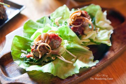 Foie Gras Meatballs – banana blossom, plum BBQ
