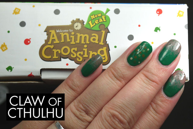 Animal Crossing: New Leaf Grass Deterioration Inspired Nail Art