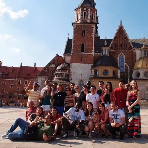 Group shot of students in Poland