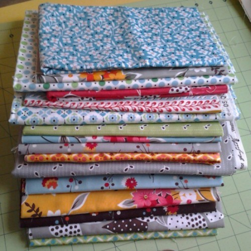 Trying to convince myself to cut into this stack for the happyquilting star surround QAL. So far I'm too chicken.
