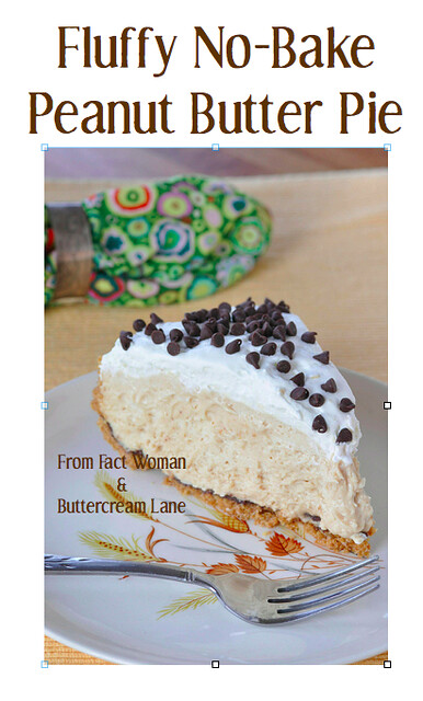 Fluffy No Bake Peanut Butter Pie from fact Womand and Buttercream Lane