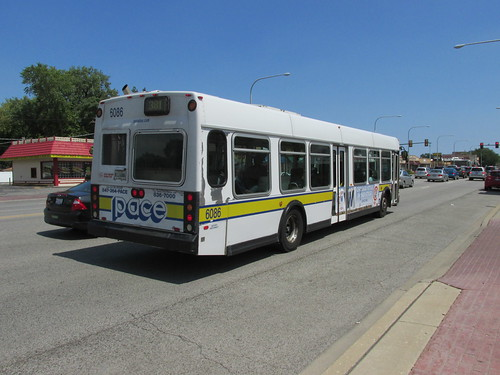 Eastbound Pace bus on West 95th Street.  Evergreen  Park  Illinois.  Saturday, August 10th, 2013. by Eddie from Chicago