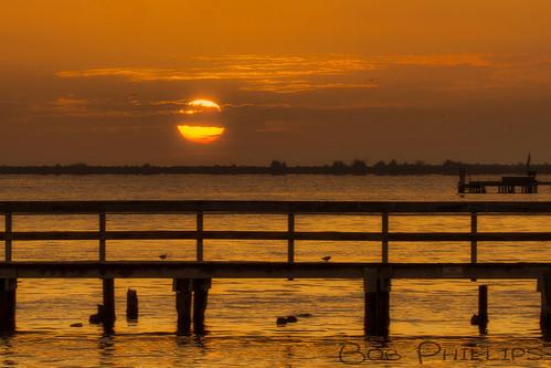 gulfofmexico sunrise pier florida pineisland bokeelia