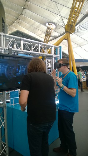 Gilmour wearing the Oculus Rift