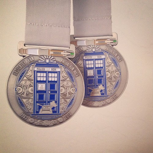 Our awesome #medals from the 50th anniversary Doctor Who Fun Run! #doctorwho #5k #bling