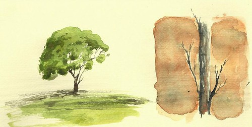 Aquarelle Trees 2