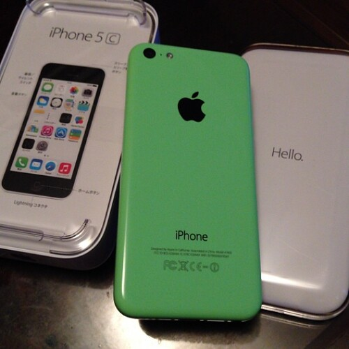 Hello, iPhone 5c.