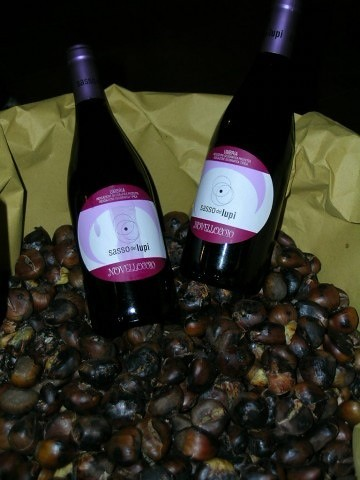 Vino Novello with chestnuts