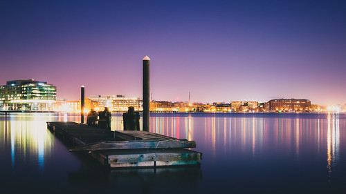 city light urban film water night harbor haze nikon cityscape baltimore inner clear faux f18 v1 185mm