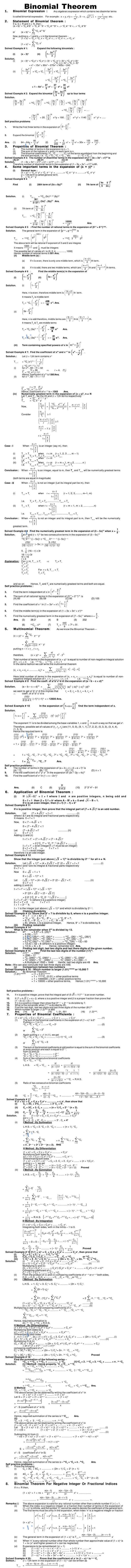 Maths Study Material - Chapter 21