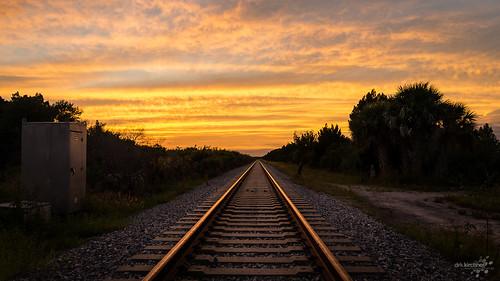 railroad sunset sky usa nature clouds america us sonnenuntergang unitedstates florida titusville amerika wildliferefuge merrittisland pentaxk5 dirkkirchner exposureunforgivenartde