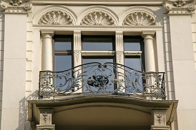 Wiesbaden, Taunusstraße, Balkon (balcony)
