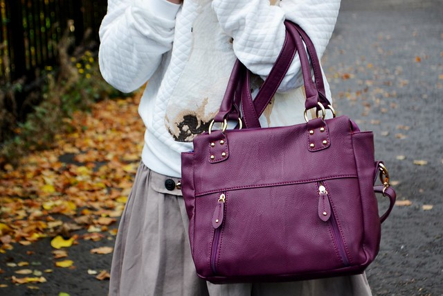The purple bag