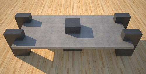 Custom outdoor concrete benches and tables, concept design and production by 108.167.189.34
