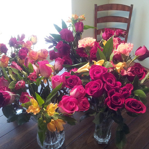 50 roses to mark 50 days till our 10 year anniversary. You can go ahead and be jealous now. #besthusbandever