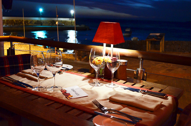 Dining by the Sea, Los Roques, Los Abrigos, Tenerife