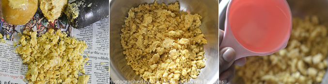 How to make jaggery syrup - Step1