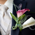 Calla boutonnière for the groom