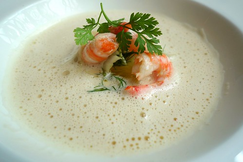 Fennel and Orange flavoured Norwegian Shrimp Soup with Shrimp and Fennel Salad - Osia's Cooking with Friends featuring Guest Chef Geir Skeie